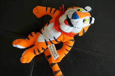 "PLUSH Toy KELLOGGS 7.5"" Bean Bag Breakfast Bunch Tony the Tiger Stuffed 1997 Grr"