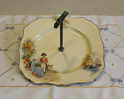 "Vintage J & G Meakin Sol 391413 England ""Lord Nelson"" Cake Plate"