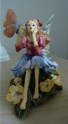 Porcelain Fairy with Butterfly, Intricate details, Like-new condition, $22.99