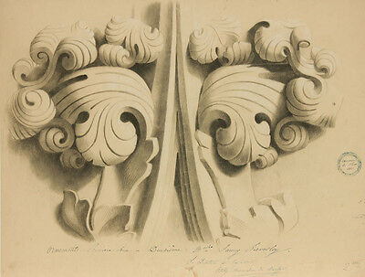 Fanny Lievesley - 1861 Graphite Drawing, Architectural Study