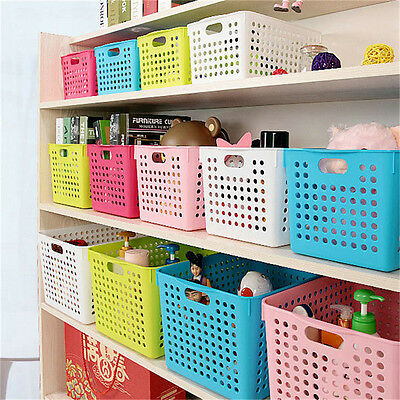 Household Multi Storage Organizer Boxes Space Office Basket Bins Home Container