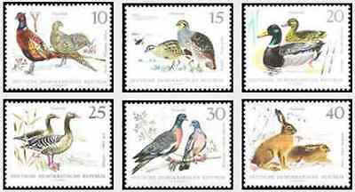 Timbres Animaux Oiseaux Lapins RDA Allemagne 1053/8 * lot 20728