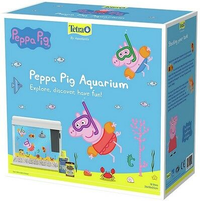 Tetra Peppa Pig 18L Aquarium Fish Tank Starter Kit Cold Water Filter Ornaments