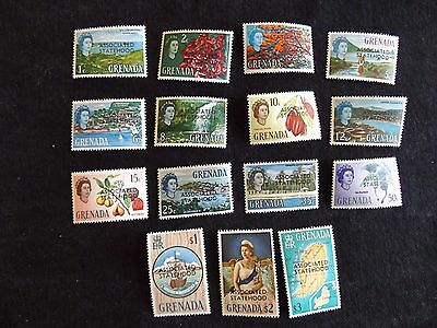 """Grenada: 1967 Stamps of 1966 Optd """"ASSOCIATED STATEHOOD"""" mounted mint set"""