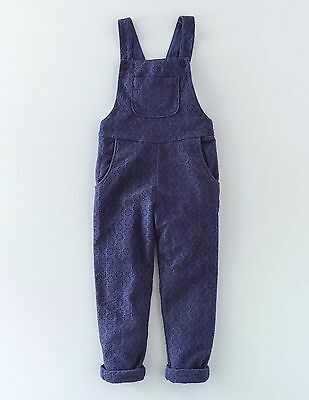 Girls New in Bag Mini Boden Broderie Dungarees Jumpsuit - Age 9-10y in Navy