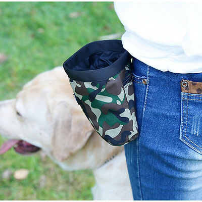 1PC Pet Puppy Dog  Treat Carrier Training Walk Snack Bag Storage With Clicker