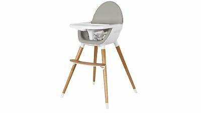 Childcare POD High Chair with Removable Tray and Harness System - Grey/White
