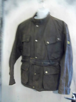 Belstaff Trialmaster Waxed Motorcycle Jacket Size L Uk Made