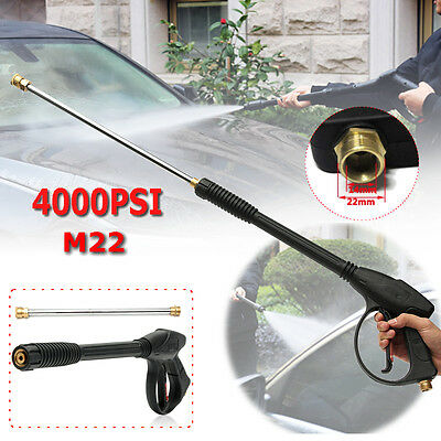 4000PSI Pressure Power Car Washer Spray Gun Kit Wand Lance Nozzle&Extension Wand