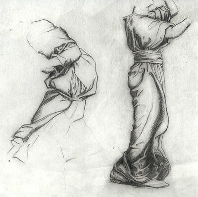 Early 20th Century Graphite Drawing - Classical Figurative Studies