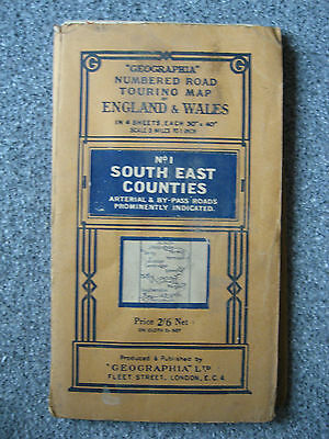 Geographia Touring Map No.1 South East Counties includes up to Norfolk paper