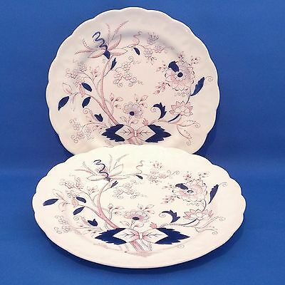 """Vintage BOOTHS - FRESIAN (A8022) - 2 x Large DINNER PLATES (10.5"""", 27cm)"""