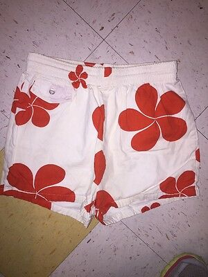 vintage 70s 80s Hawaiian BOARD SHORTS swim trunks TIKI hibiscus flower