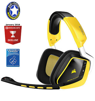 Corsair VOID Wireless Dolby RGB 7.1 Special Edition PC Gaming Headset Yellow