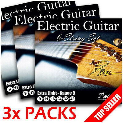 3 NEW SETS Adagio Electric Guitar Strings 9-42 w Full Extra Light Set