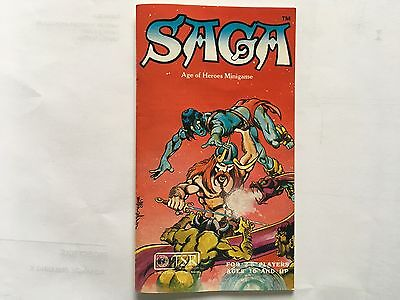 SAGA AGE OF HEROES MINIGAME in excellent condition vintage1981 D&D game