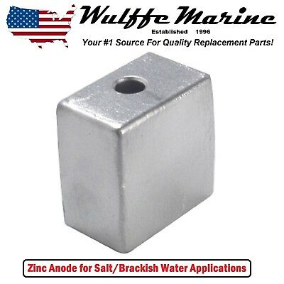 Zinc Cube Block Anode for OMC Cobra Johnson Evinrude Outboards 50 60 70 90 140