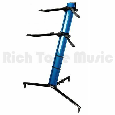 Quiklok Stay Keyboard Stand Tower Dual-tier Aluminum - Blue