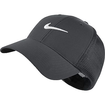 NEW Nike Legacy Tour Mesh Dark Gray/White Fitted L/XL Hat Cap