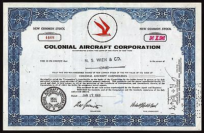 1969 New York: Colonial Aircraft Corporation