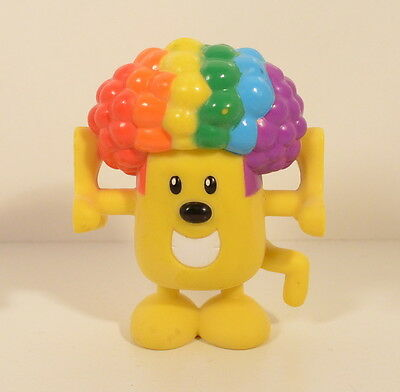 """2007 Circus Afro Wow Wow Wubbzy 3"""" Kooky Stackable PVC Action Figure Nick Jr"""