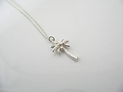 419cd7239 Tiffany & Co Silver Nature Palm Tree Summer Necklace Pendant Charm 17.5 In  Chain