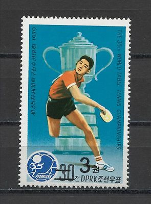 Korea Table Tennis Sport Mi#5039 ( #1832) Ovpt. New Currency MNH