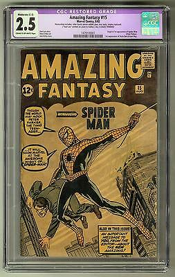 Amazing Fantasy #15 CGC 2.5 (C-OW) 1st Spider-Man Appearance