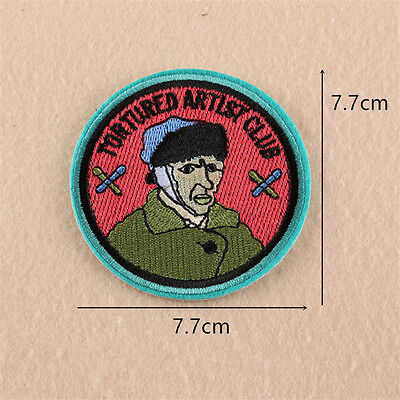 """Embroidered ''Tortured"""" Patches Sew Iron On Badge Hat Bag Clothes Applique Craft"""