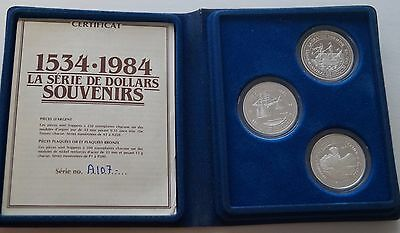 1984 Quebec Canada Trade Token Limited Edition Silver Proof Set # 107 of 250