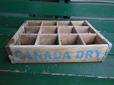 1973 Canada Dry Wooden One Litter Crate Soda Pop Carrier Advertising Kentucky#53