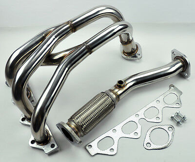 2.0L DOHC Stainless Race Manifold Header & Downpipe FITS Hyundai Tiburon 97-01