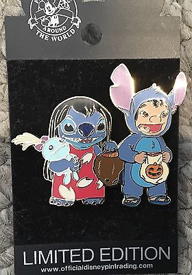 Disney Halloween Costume Stitch and LILO Scrump as Lilo and Stitch Pin LE 500