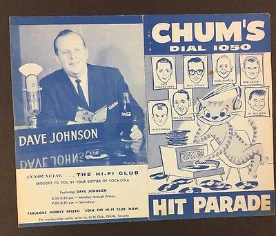 Chum Chart Feb 2 1959 Buddy Holly Died In Plane Crash Richie Valens #1 Song VTG