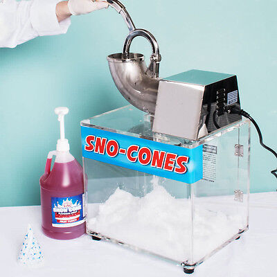 Professional Snow Cone Machine Electric Maker Shaved Ice Commercial Snow Crusher