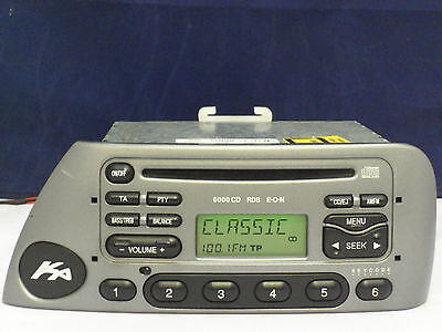 Silver Grey Ford 6000 Ka Cd Radio Player Stereo Code Used Fully Working Bargain
