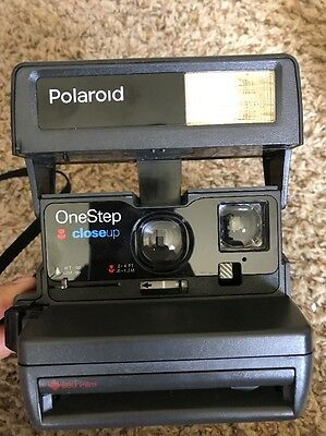 POLAROID One Step (Close Up) 600 Instant Camera TESTED  & WORKING Free Shipping