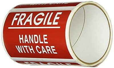 """FRAGILE Stickers Handle with Care Stickers Shipping Moving Labels 5""""  In 3"""" In"""