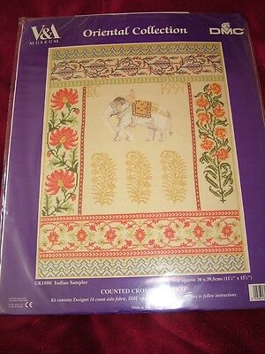 Counted Cross Stitch Indian Sampler Brand New