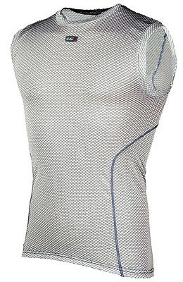 LOUIS GARNEAU Mesh Carbon Men's Sleeveless Base Layer 2XL XXL Bike Grey NEW