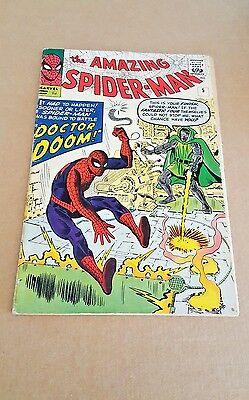 "AMAZING SPIDER-MAN #5 OCT. '63 Silver Age ""Doctor Doom"" VG+ STAN LEE"