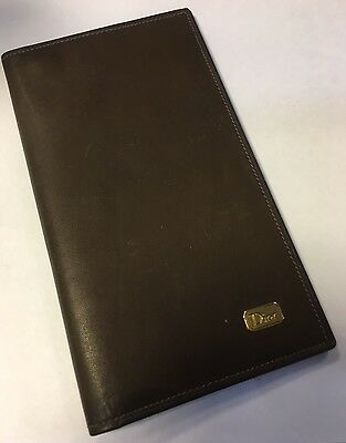 Stylish Vintage Dior Brown Leather Wallet