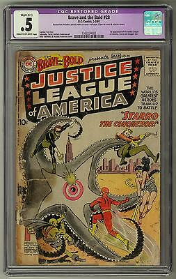 Brave and the Bold #28 CGC .5 (C-OW) 1st Justice League & Starro Appearance
