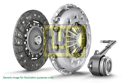 Clutch Kit 3pc w/ Cover, Plate & CSC 624326133 LuK Genuine Quality Replacement