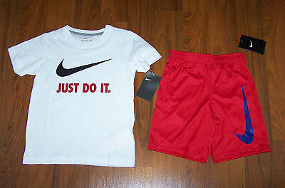 Nike Boys 2pc Outfit Set Shorts & T-Shirt SIZE 6 NEW
