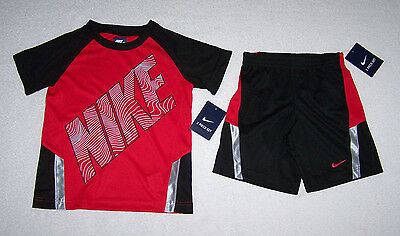 Nike Boys 2pc Outfit Set Shorts & T-Shirt SIZE 5, 6 NEW