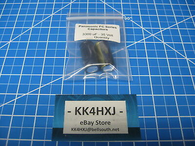 Panasonic FC Series - 3300uF 35V Electrolytic Radial Capacitors - 2 Pieces