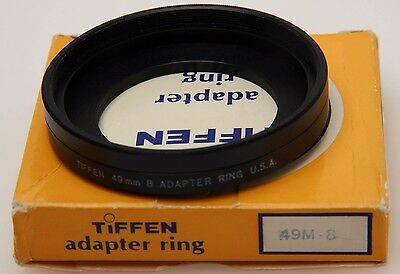 Tiffen 49mm-Series 8 adapter ring, retain ring, box, made in USA #359250