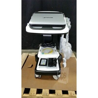 Whale Sigma P5 Portable Ultrasound Unit with 0B00002 Cart, 2C5V & 12L5V Wands**