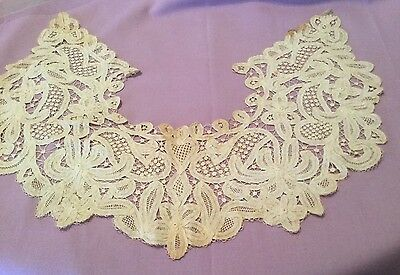 Antique - Incredible Hand Made Lace Collar - Beautiful Desig  & Craftsmanship